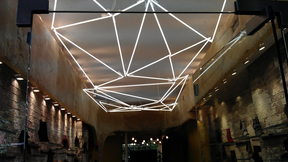 Askalice Storefront Ceiling Hanging Neon